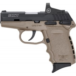 SCCY CPX1-CB W/RED DOT DAO 9MM 10RD BLACK/FDE W/SAFETY