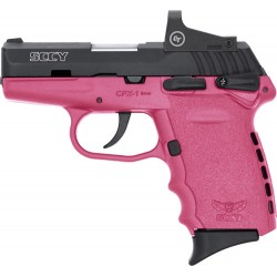 SCCY CPX1-CB W/RED DOT DAO 9MM 10RD BLACK/PINK W/SAFETY