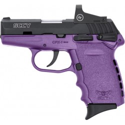 SCCY CPX1-CB W/RED DOT DAO 9MM 10RD BLACK/PURPLE W/SAFETY