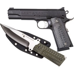 "DESERT EAGLE 1911 GOVERNMENT .45 ACP 5"" FS MATTE W/KNIFE"