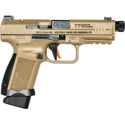 CI CANIK TP9 ELITE COMBAT FDE 9MM TREADED BARREL 15RD MAG