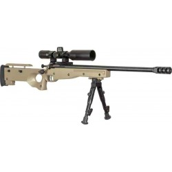 CRICKETT PRECISION RIFLE .22LR BLUED/FDE THREADED W/SCOPE