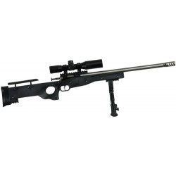 CRICKETT PRECISION RIFLE .22LR SS/BLACK THREADED W/SCOPE