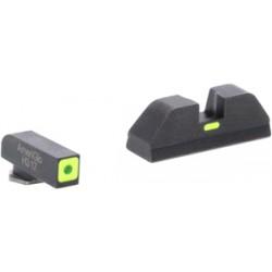AMERIGLO CAP SIGHT SET GREEN / GREEN GLOCK GEN5 17 & 22+