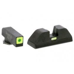 AMERIGLO CAP SIGHT SET GREEN/GREEN GLOCK 42/43