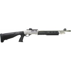 "IVER JOHNSON HOME DEFENSE SHOTGUN 12GA. 3"" 18"" CYLINDER SATIN NICKEL SYN"