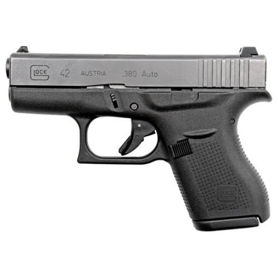 GLOCK 42 .380 ACP FS6-SHOT BLACK