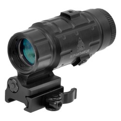 UTG 3X MAGNIFIER FLIP TO SIDE QD MOUNT