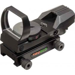 TRUGLO PANORAMIC SIGHT 5-MOA DOT GREEN/RED BLACK