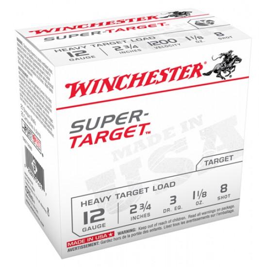 WINCHESTER AMMO SUPER TARGET 12GA. 1200FPS. 1-1/8OZ. #8 25-PACK