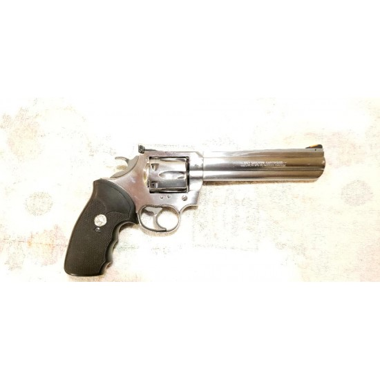 """USED Colt King Cobra .357 Stainless steel 6"""" barrel. Early 90's. Only fired twice. Like new condition. Complete with case and all original paper work."""