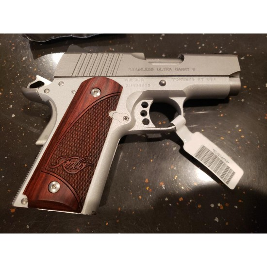 """USED STAINLESS KIMBER ULTRA CARRY II 45ACP 3"""" BBL W/CASE & 3 7RD MAGS - LIKE NEW"""